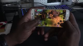 Gaming on the Samsung Galaxy S6 Edge - Video