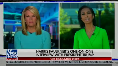 Harris Faulkner confronts Trump about looting/shooting remark