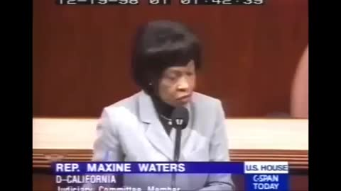 Watch How Maxine Waters Described The Impeachment of Clinton: It's a 'Coup'