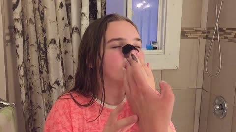 12 y/o learns the pain of beauty