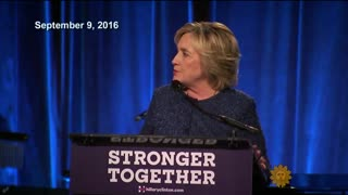 "Hillary Clinton Stands By Calling Trump Supporters ""Deplorable"" - Video"