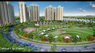 Gaur Yamuna City modern housing project - Video