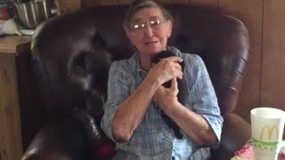 Priceless Reaction From 80 Year Old Grandma Getting a Pug Puppy!!! - Video