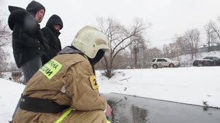 Soggy Pooch Rescued in Russia