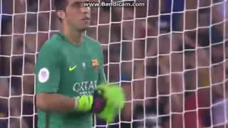 Cladio Bravo Saves Penalty vs Sevilla - Video