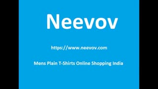Mens Solid Blue Colour T Shirts - Video