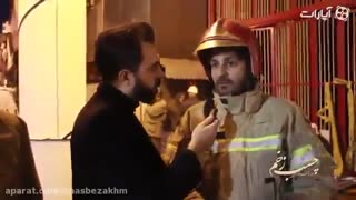 Tehran: Rescuers scour debris for trapped firefighters - Video