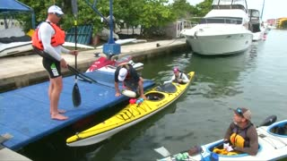 U.S. kayakers set off from Havana to Key West - Video
