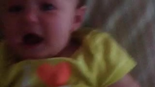 Baby's sad reaction to mommy's sniffles