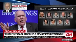 James Clapper: Pulling John Brennan's security clearance is First Amendment issue - Video