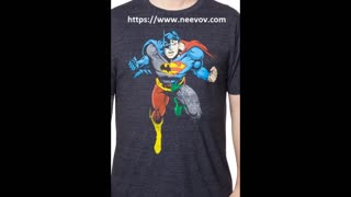 Black Colour Cotton T Shirts of Superman - Video