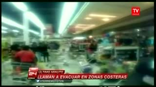 Chilean quake triggers tsunami alert - Video