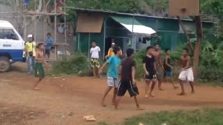 Basketball game in Philippines