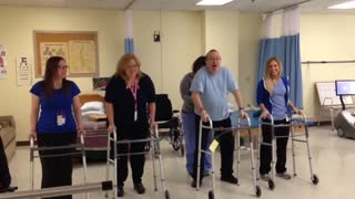 John Woloski and Therapists Dance for Stroke Awareness - Video
