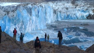 Trekkers Witness A Massive Glacier Wall Collapse In Argentina - Video