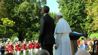 Pope arrives at White House - Video