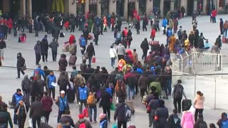 World's largest human migration for Chinese New Year - Video