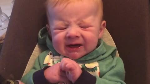 This Baby's First Taste Of Lemon Was A Very Sour Experience