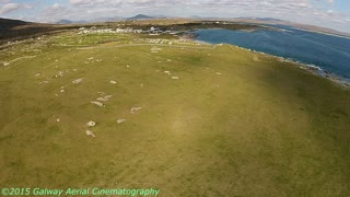 Aerial View  The Emerald Isle Dog's Bay Beach Ireland - Video