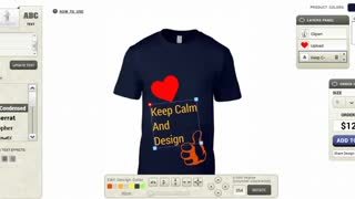 Online T-shirt Designer software - Video