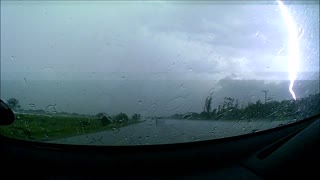 Thunderstorm in Africa  - Video