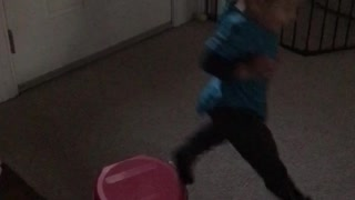 Start of being a dare devil at 1 years old lady  - Video
