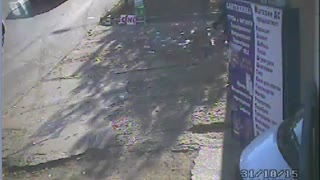 CCTV Captures A Close Call - Video