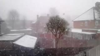 Snowstorm outside