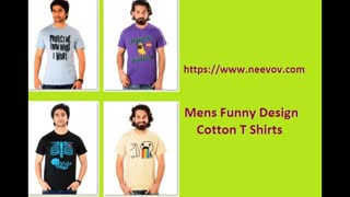 Mens Graphic Funny Cotton Pink Colour T Shirts - Video
