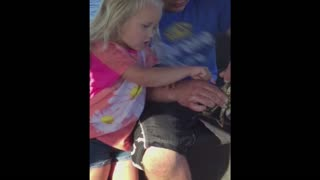 Girl Drops Crab on Dad's Lap - Video