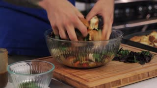 How to Make Panzanella Bread Salad - Video
