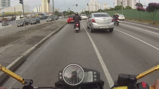 Motorcyclist Gets Distracted and Crashes - Video
