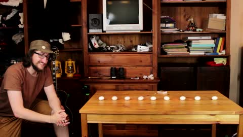 Man extinguishes 9 candle flames with a single punch