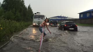 Russian Flood Surfing - Video