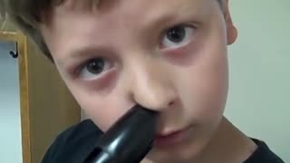 Kid Shows Off His Incredible Talent Beatboxing And Playing The Recorder With His Nose At The Same Time  - Video