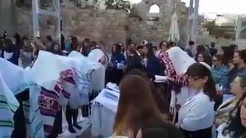The Woman Of The Wall Held Their Own 'Birchas Kohanos' Over Pesach