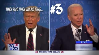 """Trump and Biden """"No, you're on number two"""""""