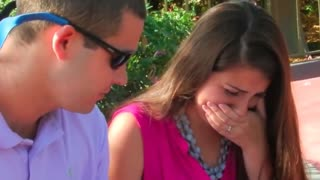 Disney World Proposal With Overwhelming Ending - Video