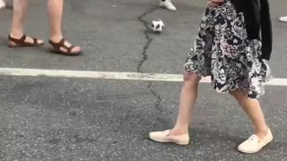 Man Makes Amazing Soccer Shot