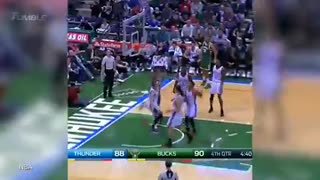 Russell Westbrook TROLLS Bucks Fans w/ Discount Double Check, Gets BLOCKED by Giannis Antetokounmpo - Video