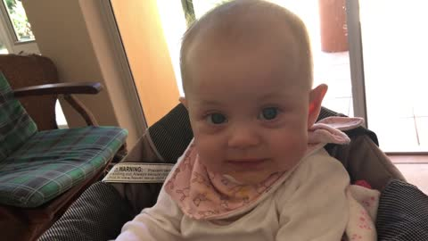 Baby reacts to taste of butternut for the first time