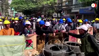 Myanmar protesters clash with security forces