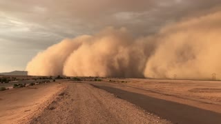 Fast Moving Dust Storm