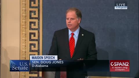 Sen Doug Jones Calls for Moderation in Gun Debate, Says Simply Arming Teachers Isn't Enough