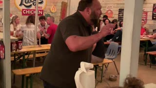 Alex Jones Gets Fired Up in Texas Restaurant