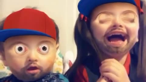 Brother And Sister Try Out A New Snapchat Filter With Hysterical Results