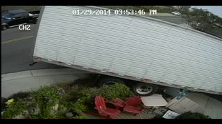Tractor-Trailers Destroy Front Yard