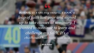 Nick Foles Wants To Be A High School Pastor After His NFL Career - Video