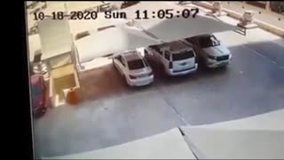 Man escapes death when parking lot suddenly collapses in Saudi Arabia