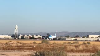 Air Force One Leaving Goodyear, Az after 2020 rally